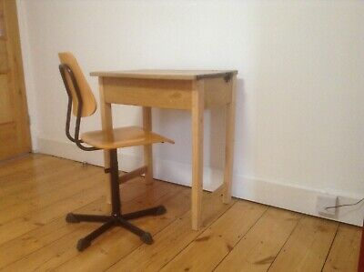 Vintage Wooden School Desk With Chair  • 25£