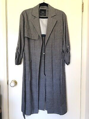 AU29 • Buy Bershka Check Lightweight Trench Coat Size Au8