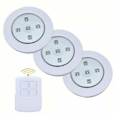 £10.69 • Buy RGB Changing Color LED Lights Home Wireless Remote Control Spotlights,Set Of 3/6