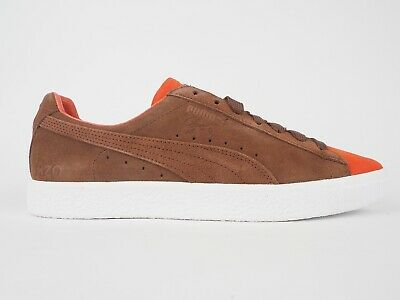 Puma Clyde X Patta II 363317 01 Orange Biscuit Suede Lace Up Casual Trainers • 55£