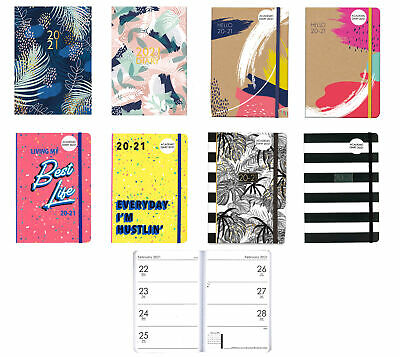 A5 Hello 20-21 Student Week To View Mid-Year Academic Diary 2020-2021 Soft Cover • 2.02£
