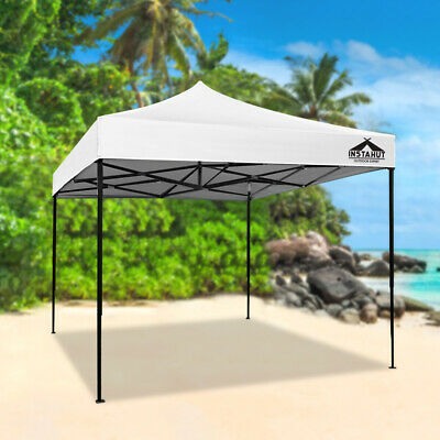 AU94.90 • Buy Instahut Gazebo Pop Up Marquee 3x3 Outdoor Tent Folding Wedding Gazebos White