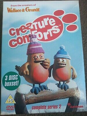 Creature Comforts Series 2 Complete (DVD 3-Disc Set) Aardman Wallace And Gromit • 5£
