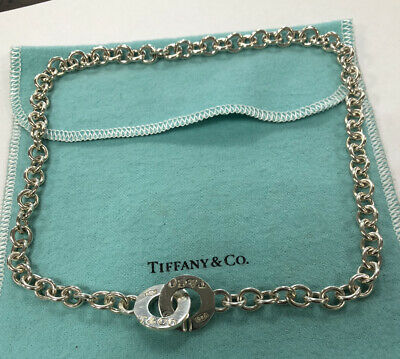 $115 • Buy Authentic Tiffany & Co 1837 Sterling Silver Interlocking Circle Necklace