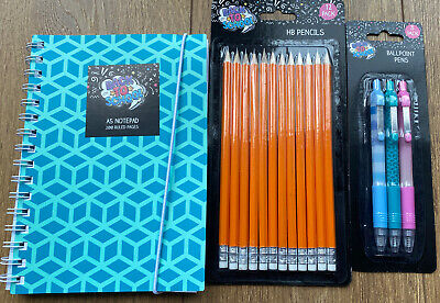 £9.99 • Buy Childrens Stationery Bundle Pens Pencils Notepad Back To School Gift Present