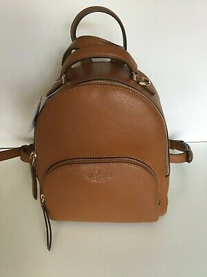 $ CDN185.01 • Buy Kate Spade Jackson Medium Leather Backpack Warm Gingerbread - NWT