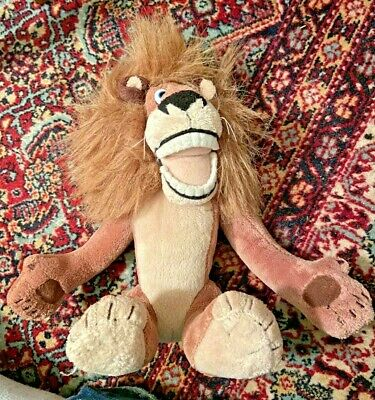 MADAGASCAR: ALEX THE LION PLUSH TOY, Approx 30CM TALL DREAMWORKS CHARACTER, 2005 • 19.71£