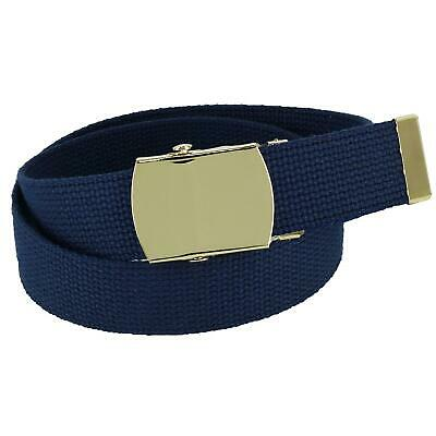 $8.44 • Buy New CTM Kids' Cotton Adjustable Belt With Brass Military Buckle