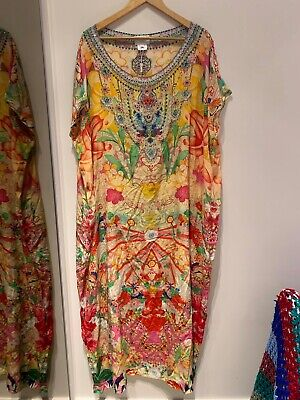 AU280 • Buy Camilla Franks Kimono Kisses Slim Round Neck Kaftan Rnk