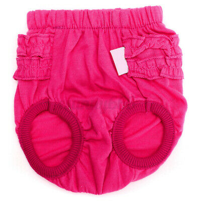Female Pet Dog Puppy Pants Bitch Season Menstrual Sanitary Nappy Diaper S Size • 4.58£