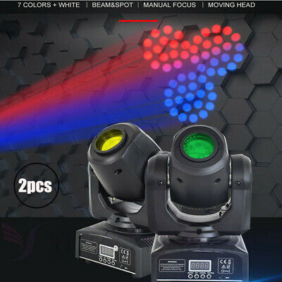 2x 30W LED Moving Head Stage Light Gobo RGBW DMX Club Disco DJ Party Lighting • 125.99£