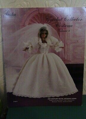 Crochet Pattern Booklet ~ Barbie Doll ~ Royal Wedding Gown • 2.95£