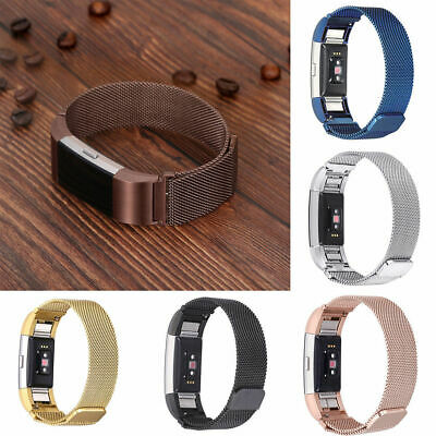 $ CDN13.32 • Buy For Fitbit Charge 2 Replacement Magnetic Loop Strap Stainless Steel Wrist Band A