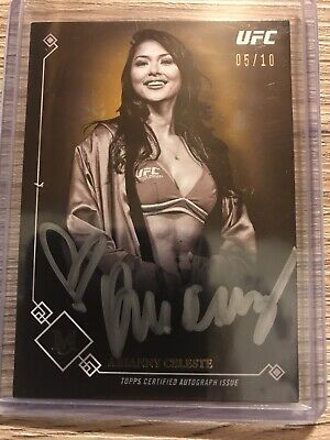 $60 • Buy 2017 Topps UFC Museum Collection Arianny Celeste Gold Auto 5/10