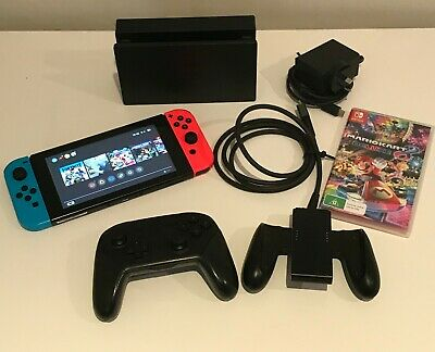 AU380 • Buy Nintendo Switch 32 GB Console Bundle With Pro Controller And Mario Cart 8 Deluxe