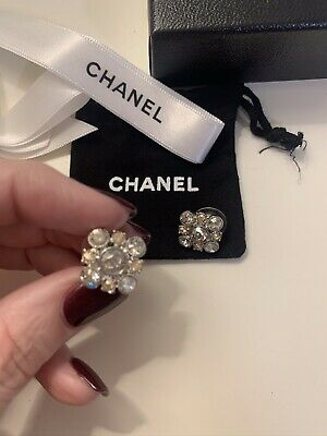 AU450 • Buy Chanel Crystal Earrings Authentic