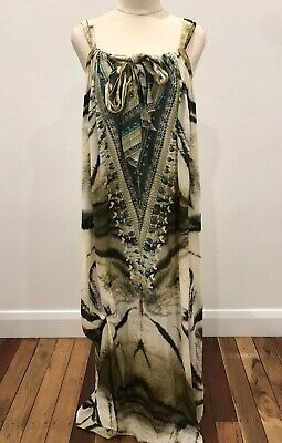 AU100 • Buy CAMILLA FRANKS Animal Print Silk DRESS. Size OSFM