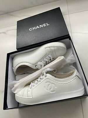 AU499 • Buy Chanel White Rubber Sneakers Size EU 37 RRP $1200+