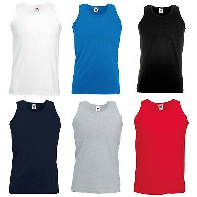 £4.99 • Buy FRUIT OF THE LOOM Men's Classic Fit Cotton Vest Top Gym Sleeveless Tee T Shirt