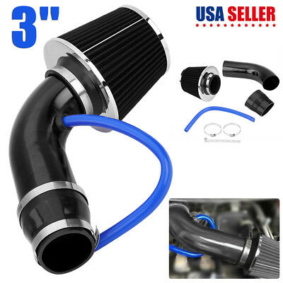 $32.22 • Buy Car Cold Air Intake Filter Alumimum Induction Kit Hose System Fit For Any Car