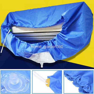 AU45.84 • Buy Blue Air Conditioner Cleaning Dust Washing Cover Clean Waterproof Protector