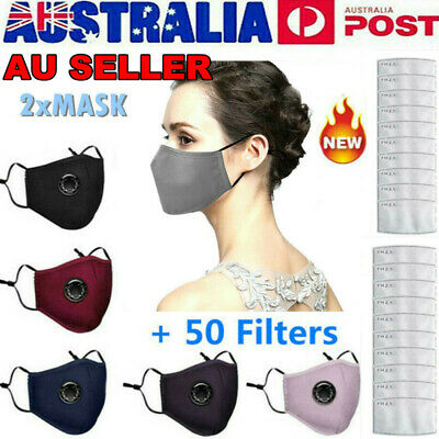 AU16.90 • Buy 10X PM2.5 Anti Air Pollution Face MASK Respirator With Filters Washable&Reusable