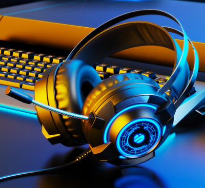 AU35.87 • Buy LED Gaming Headset Headphone With Microphone Volume Wired For PS4 PlayStation 4