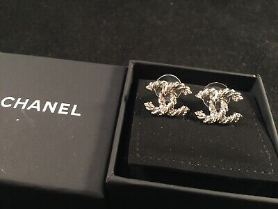 AU305 • Buy Chanel Silver Colour Earrings - Authentic