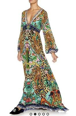 AU699 • Buy Camilla Franks The Jungle Book Long Dress With Bell Sleeve Kaftan XS Brand New