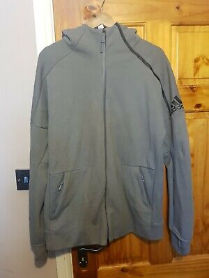 Mens Adidas Originals Fleece Tracksuit Top - Size Large-Used But Excellent Cond. • 34.99£