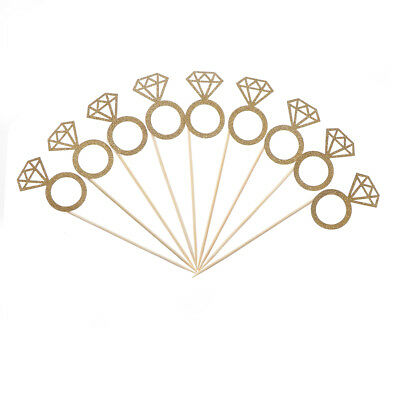 £2.11 • Buy 10x Diamond Ring Cupcake Toppers Engagement Wedding Party Table Decorations  BE
