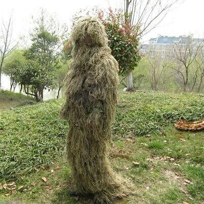 AU66.40 • Buy Sniper Desert Camouflage Clothes Haired Yowie Ghillie Suit Traning Hunting CS