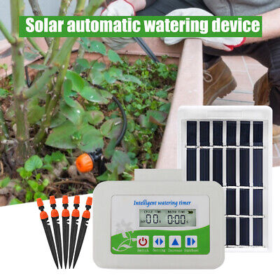 Solar Automatic Watering Device Garden Plant Drip Irrigation Timer System • 30.02£