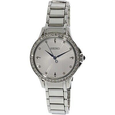 $ CDN169.99 • Buy Seiko Womens Classic Diamond Accented Stainless Steel Watch - SRZ485 SRZ485P1