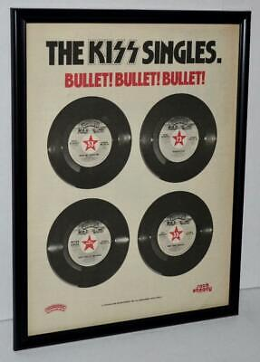 $34.99 • Buy Kiss 1978 The Kiss Singles Casablanca Rock Steady Framed Promotional Poster / Ad