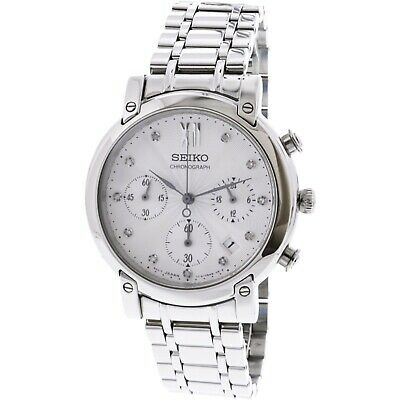 $ CDN199.99 • Buy Seiko Womens Neo Sports Stainless Steel Crystal Accent Chronograph Watch SRW837