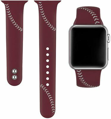 AU16.23 • Buy Baseball Sport Band Compatible With Apple Watch 1-5 42mm 44mm LG 6.3 -8.1  Wine