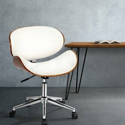 AU113.90 • Buy Artiss Office Chair Gaming Wooden Computer Desk Chairs Leather Seat White