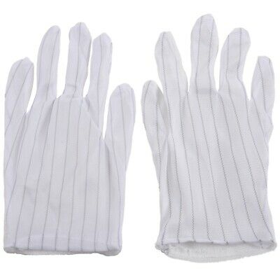 $11.24 • Buy 1 Pair Anti-static Anti-skid Gloves ESD PC Computer Electronic Working Whit F6U5