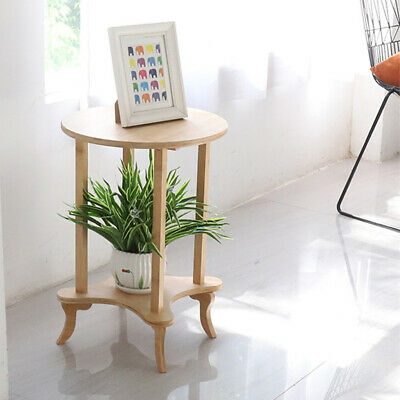 AU46.95 • Buy Wooden Sofa Side Coffee Table Occasional Round Small End Tables Display 2 Tiers