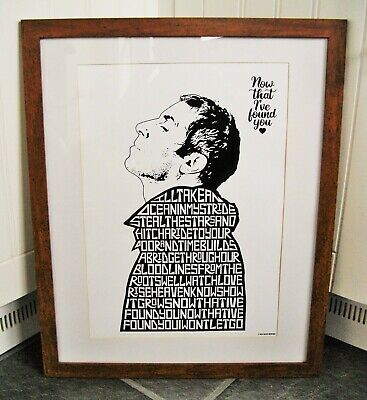 Liam Gallagher/Now That I've Found You A3 Size Typography Art Print/poster • 13.99£