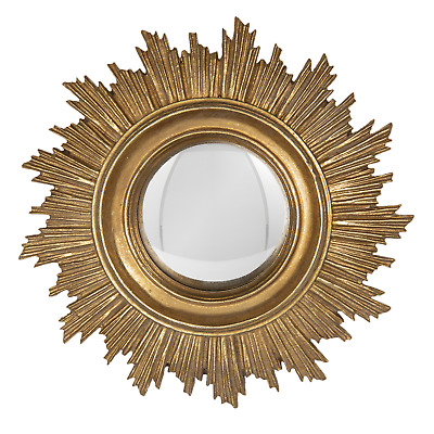Decorative Small Round Wall Mirror Sunburst Starburst Antique Gold Sun 18cm • 22.99£