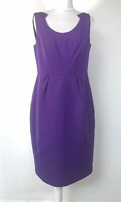 AU48.21 • Buy LK BENNETT Purple Body Con Fitted Wiggle Dress UK 14