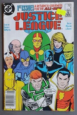 AU20 • Buy JUSTICE LEAGUE #1 1st Appearance Of MAXWELL LORD Key Issue DC Comics 1987