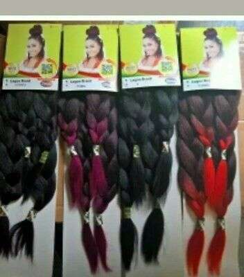 XPRESSION LAGOS BRAID Pre Pulled Stretched Hair *Different Colours Available* • 3.50£
