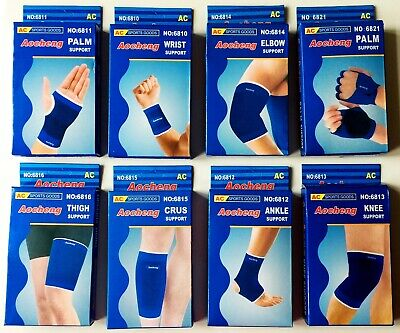 2 X Leg Ankle Elbow Knee Wrap Palm Thigh Wrist Injury Muscle Support Sports Pair • 2.99£
