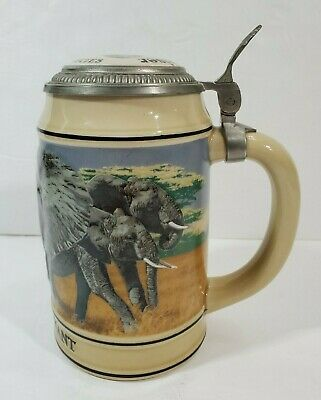 $ CDN21.32 • Buy 1990 Vintage Budweiser Endangered Species Collection Beer Stein AFRICAN ELEPHANT