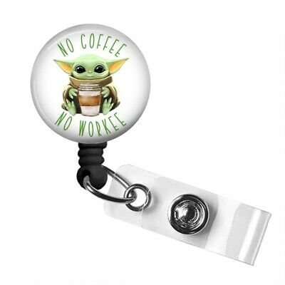 $8 • Buy Baby Yoda Badge Reel, Baby Yoda Badge Holder, Baby Yoda Gifts, Retractable Badge
