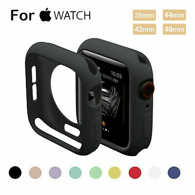 $ CDN3.70 • Buy Case For Apple Watch Series 5 4 3 2 1 IWatch 38/42/40/44mm Soft Silicone Cover