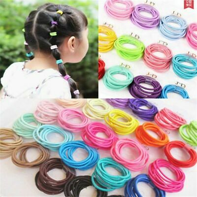 $0.99 • Buy 100PCS Lots Cute Kids Girl Elastic Tiny Hair Tie Band Rope Ring Ponytail Holder